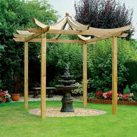 Grange Fencing Dragon Wood Japanese Pergola 2.7m