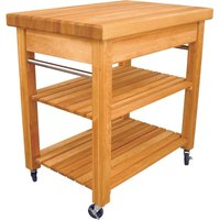 Catskill by Eddingtons Compact French Country Birch Wood Kitchen Trolley