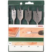 Bosch 4 Piece Flat Wood Drill Bit Set