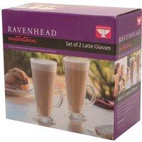 Ravenhead Entertain Latte Glass Mugs - Set of 2