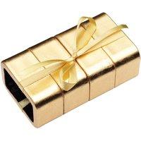 KitchenCraft Xmas Snow Napkin Rings 4pc Set - Gold