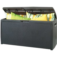 Keter Rattan Effect Storage Box - Anthracite