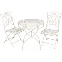 Victoria 2-Seater Bistro Set - Antique White