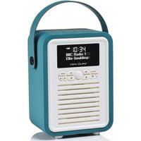 View Quest VQ Retro Mini DAB+ Digital & FM Radio with Bluetooth and Dual Alarm Clock - Teal