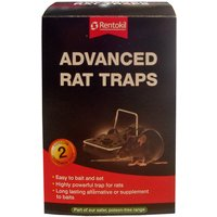 Rentokil Advanced Rat Traps - Twin Pack