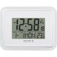 Acctim Delta Radio Controlled LCD Alarm Clock White