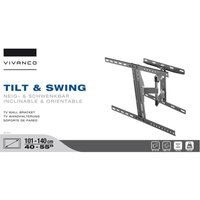 Vivanco Large Tilt and Swing Wall Mount For 40-Inch to 55-Inch TV Screens - Black