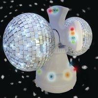 Twin Rotating LED Disco Ball
