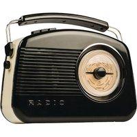Konig Retro DAB Digital Radio - Black