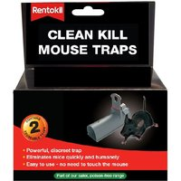 Rentokil Clean Kill Mouse Traps - Pack of 2