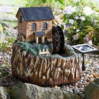 Smart Garden Solar Powered Water Mill Fountain