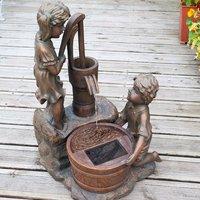 Smart Garden Boy and Girl Pump Bronze-Effect Solar Water Fountain