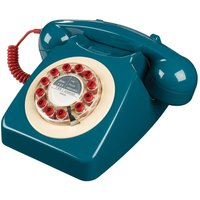 Wild And Wolf Wild & Wolf 1960s Design 746 Corded Telephone - Blue