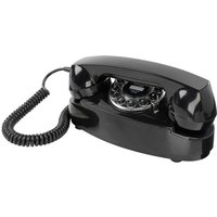 Wild And Wolf Wild & Wolf Princess Retro Design Classic Corded Telephone - Black