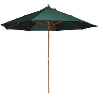 Robert Dyas 2.4m Wooden Garden Parasol - Green