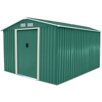 Charles Bentley 8ft x 10ft Metal Apex Garden Shed