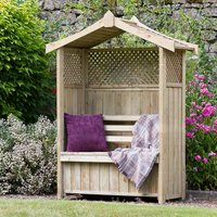Zest4Leisure Wooden Arbour With Storage Box