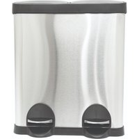 Charles Bentley 2-in-1 30L Kitchen Pedal Bin - Silver