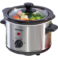 Daewoo 1.5L Slow Cooker - Stainless Steel