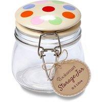 Cooksmart Spots Glass Clip Top Jar with Ceramic Lid - 0.5L