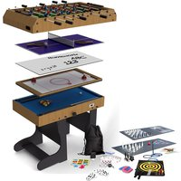 Riley 21-in-1 4 Inch Multi Game Table With Folding Legs