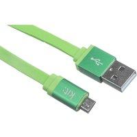 Kit Flat Micro USB Charging Cable - Green