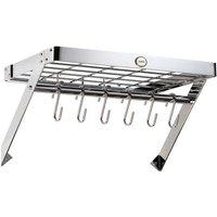 Hahn 40cm Rectangular Wall Rack - Chrome