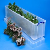 Really Useful 77L Christmas Tree Box - Clear