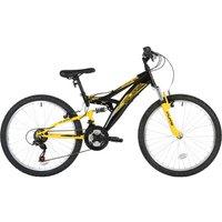 Flite Taser 24-Inch Wheel Full Suspension Boys Junior Mountain Bike - Yellow And Black