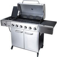 Outback Meteor 6-Burner Hybrid Gas and Charcoal BBQ with Multi-Cook Plate System - Stainless Steel