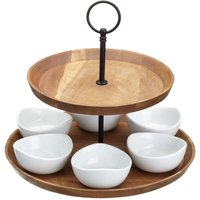 MasterClass Artesa 2-Tier Acacia Serving Set
