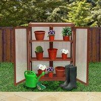 Kingfisher 3-Tier Wooden Mini Greenhouse