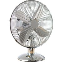 "Daewoo 12"" Oscillating Desk Fan - Chrome"
