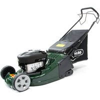 Webb RR19SP 48cm Self-Propelled Rotary Petrol Lawn Mower with Rear Grass Roller