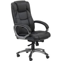 Alphason Northland Leather-faced Office Chair - Black