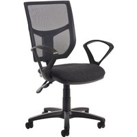 Dams Altino High Back Operator Chair with Fixed Armrests - Charcoal