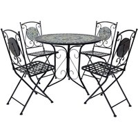 Charles Bentley 4-Seater Mosaic Bistro Set