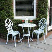 Charles Bentley 2-Seater Tulip Bistro Set - White
