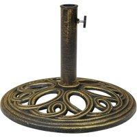 Charles Bentley 12kg Cast Iron Round Parasol Base - Bronze