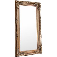 Gallery Carved Louis Leaner Mirror - Gold