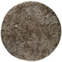 Asiatic Circle Shaggy Rug - Taupe