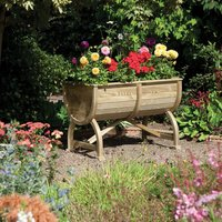 Rowlinson Marberry Barrel Garden Planter