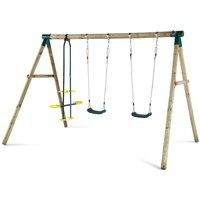 Plum Colobus Wooden Garden Swing Set