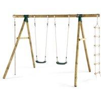 Plum Gibbon Wooden Garden Swing Set