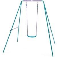 Plum Childrens Single Metal Swing Set - Purple/Teal