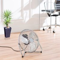 Daewoo 100W Chrome Floor Fan
