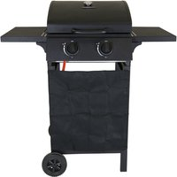 Charles Bentley Deluxe Auto Ignition 2-Burner Compact Gas Barbecue - Matte Black