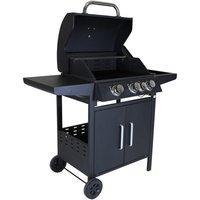 Charles Bentley 4-Burner Gas Barbecue - Stainless Steel/Black