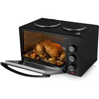 Tower T14013 1000W 28L Mini Electric Oven with Twin Hotplates