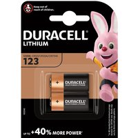 Duracell 123 Ultra Photo Lithium Camera Batteries - 2 Pack